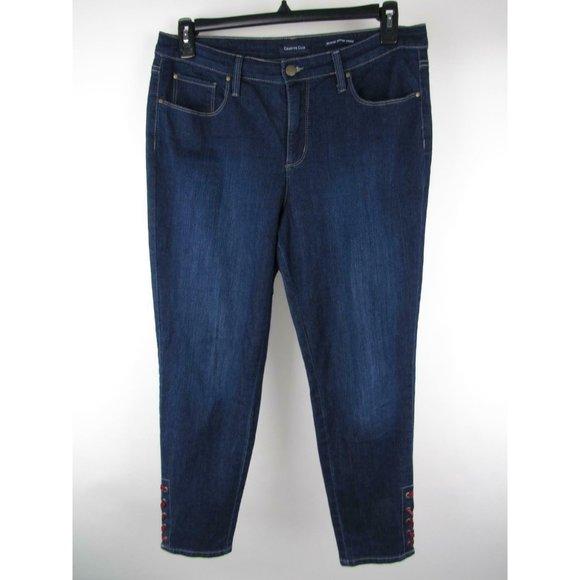 Charter Club Denim - Charter Club Dark Laced Up Ankle Bristol Jeans